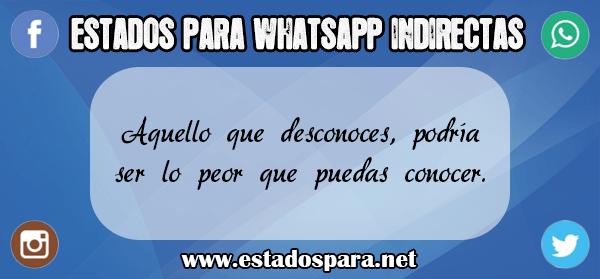 Estados para WhatsApp indirectas 2