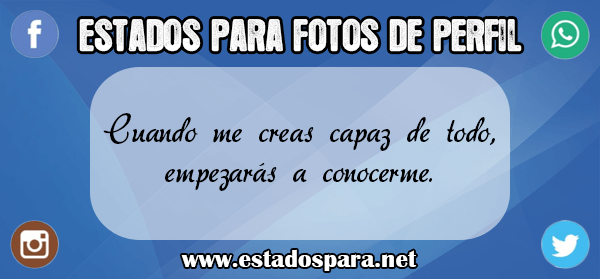 Estados para fotos de perfil